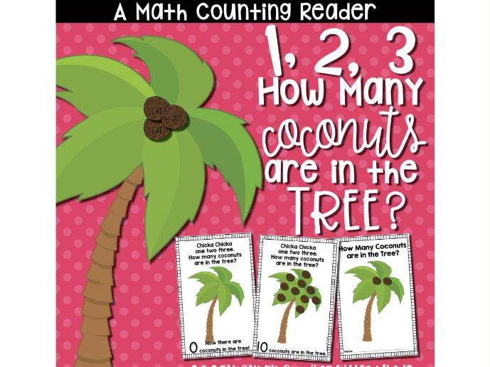 Coconut Counting Mini Reader Printable Book