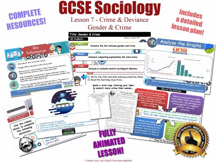 Gender, Crime & Criminality - Crime & Deviance L7/20 [ WJEC EDUQAS GCSE Sociology ] KS4 New