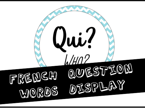 French Question Words Classroom Display