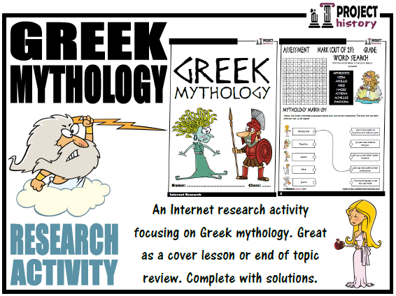 Greek Mythology Internet Research Activity