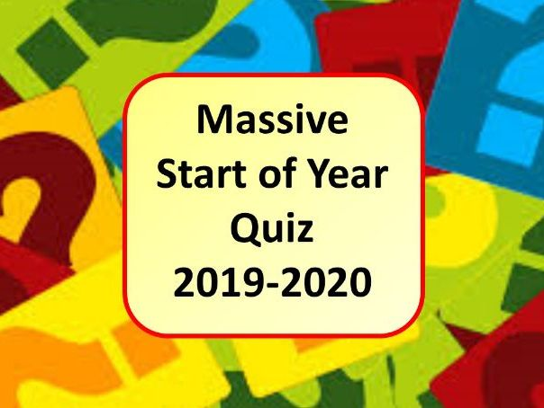 Massive Start of the Year Icebreaker Quiz