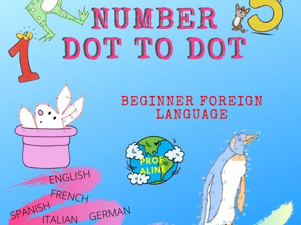 Number Practice Dot to Dot (Beginner Foreign Language)