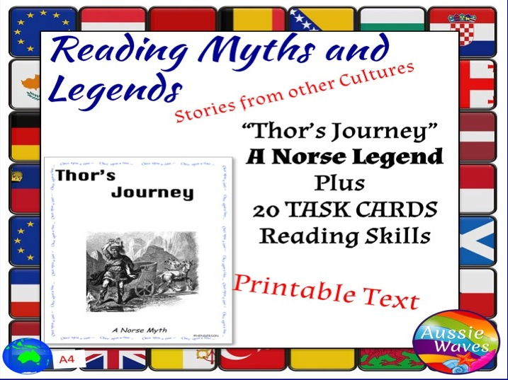 Myth Legend THOR Text & Task Cards Connections Close Question