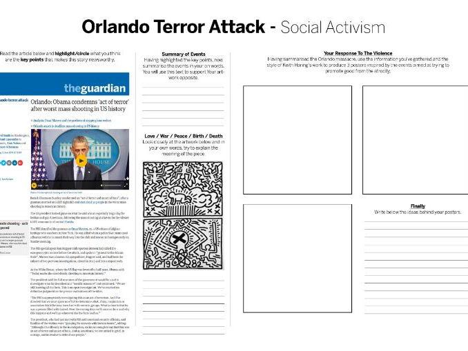 Keith Haring Social Activist - Orlando Terror Attack