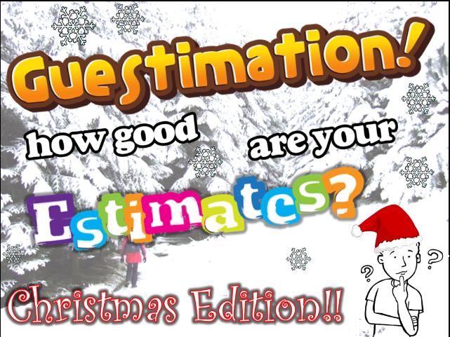 Christmas Maths Estimation Game - Festive Fun!