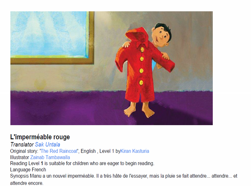Super Simple French Guided Reading Scheme For Beginners - L'imperméable rouge