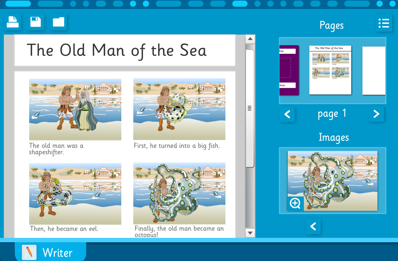 KS2 Literacy - 'The Old Man of the Sea' story builder