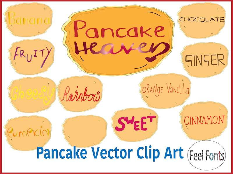 Clip Art - Pancake Vector Clip Art for classroom, personal and commercial use, editable sizes