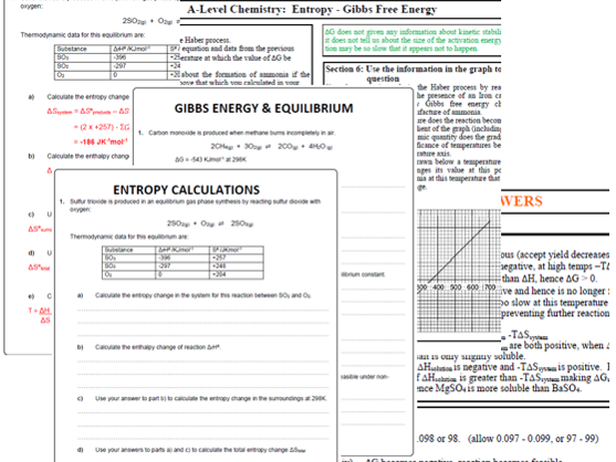 Gibbs Free energy calculations