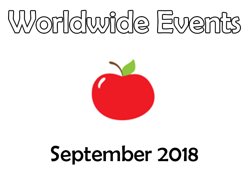Tutor Time - Worldwide Events - September 2018