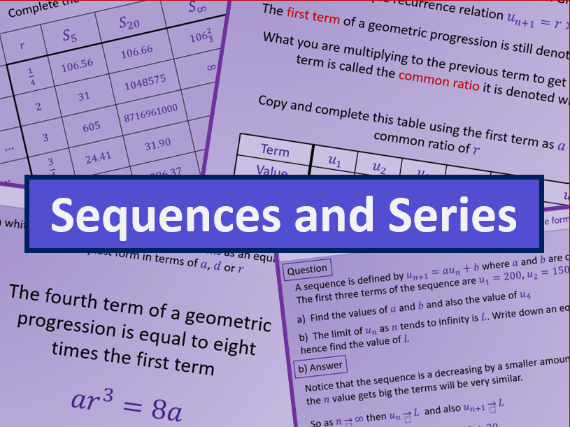 Sequence and Series - A level A2 Mathematics