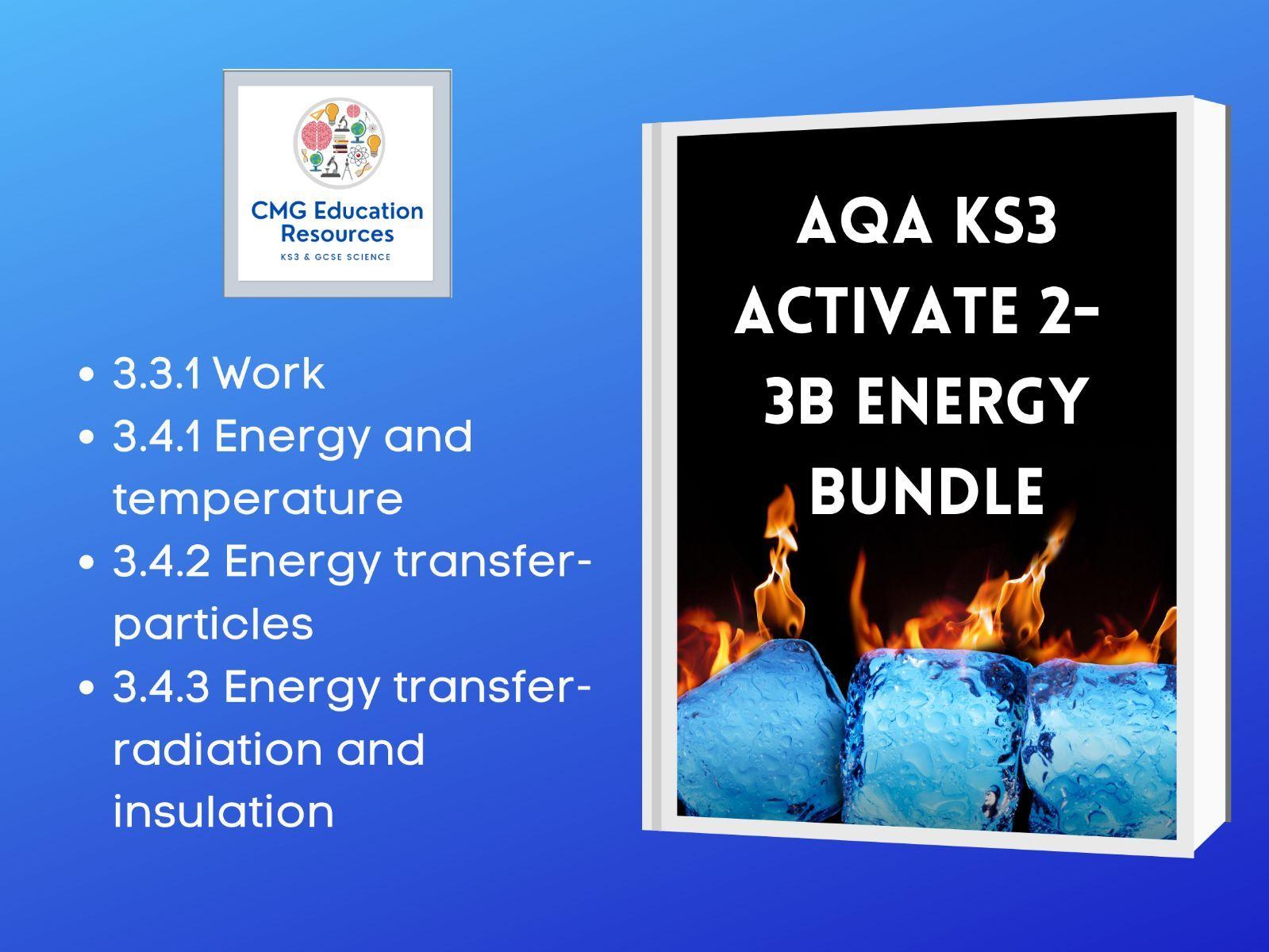 KS3 AQA Activate 2- 3b Energy bundle