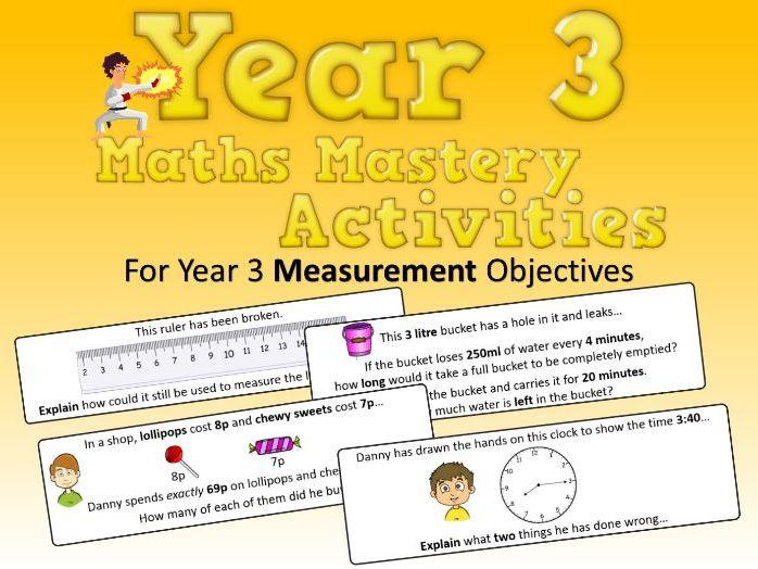 Measurement Mastery Activities – Year 3
