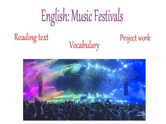 Home learning English - Music Festivals
