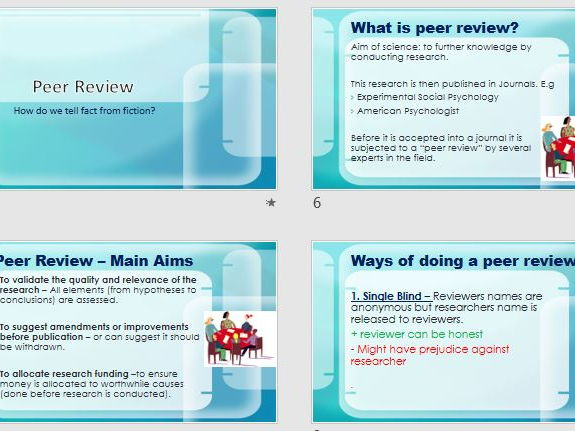Implications for the Economy & Peer Review Full Lesson (ppt & worksheet.  AQA Psychology New Spec.
