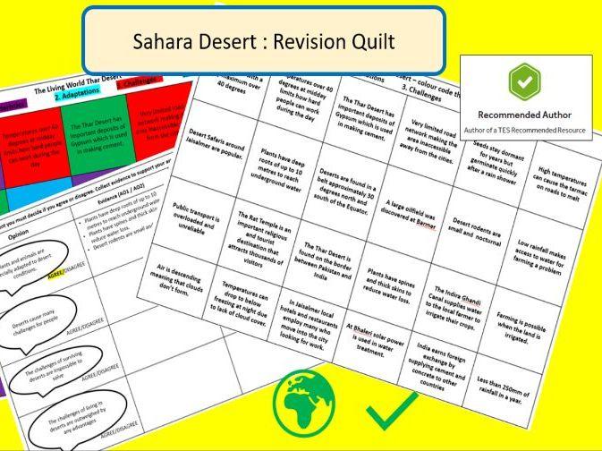 AQA 9-1 GCSE Sahara Desert Revision Quilt
