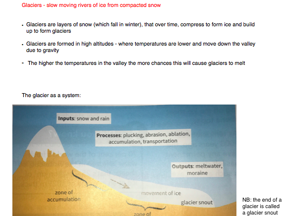GEOG AQA 9-1 - Glacial Landscapes in the UK