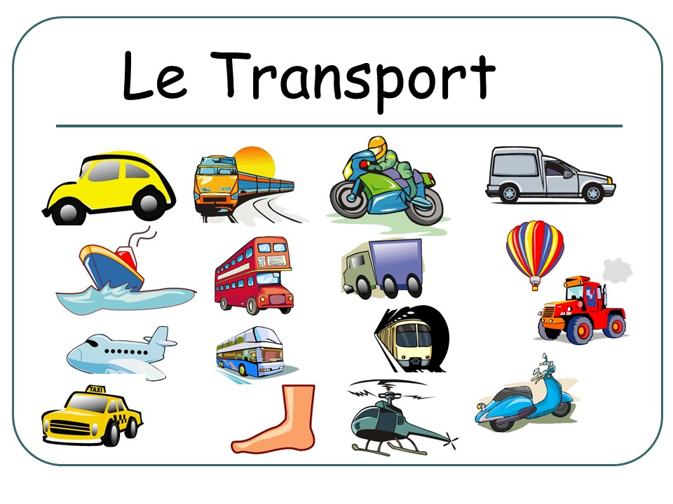 Le Transport Presentation (Flashcards) FRENCH