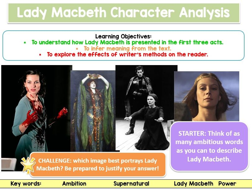Lady Macbeth Assessment Lesson