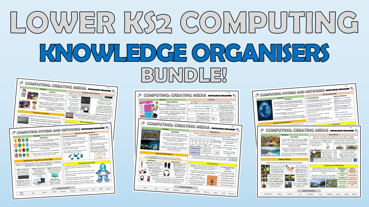 Lower KS2 Computing Knowledge Organisers Bundle!