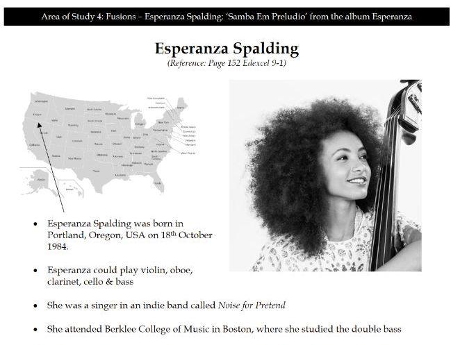AO4 Spalding 'Samba Em Preludio'- Complete Workbook (19 Pages)