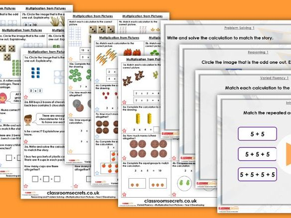 Year 2 Multiplication from Pictures Autumn Block 4 Step 5 Lesson Pack