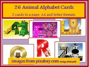 Alphabet cards, letter cards, literacy
