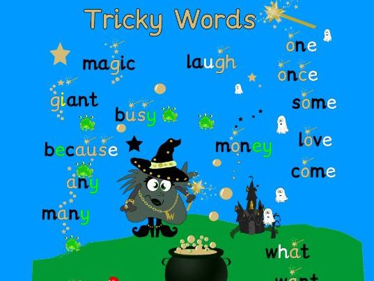 Monster Phonics Tricky Words Poster