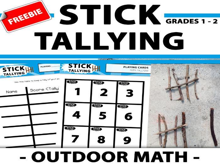 Stick Tally Chart - Data Handling - Outdoor Math Game