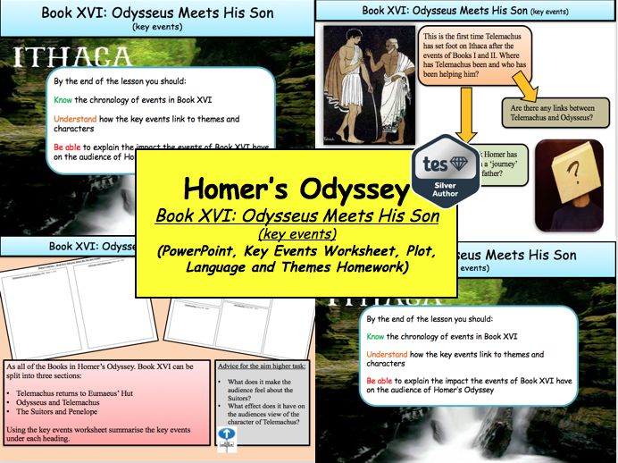 Homer's Odyssey – Book XVI: Odysseus Meets His Son (key events)