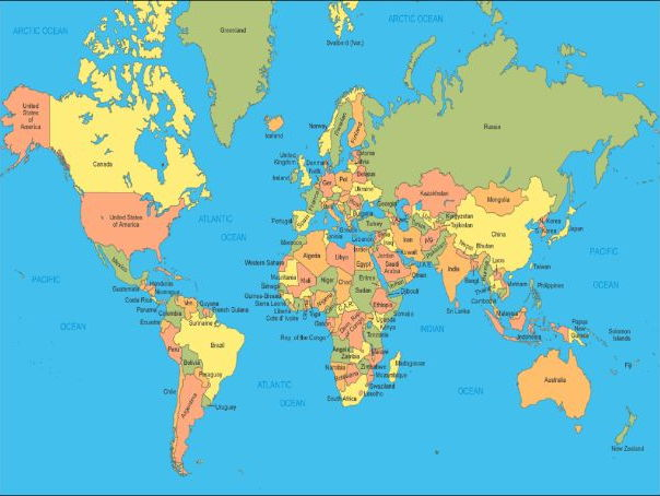 Geography World Map Game (Great starter or plenary)