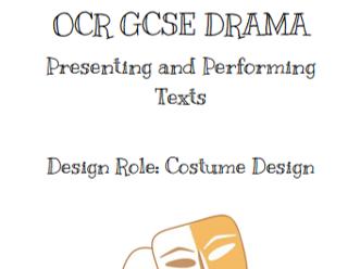 OCR GCSE Drama - Costume Design