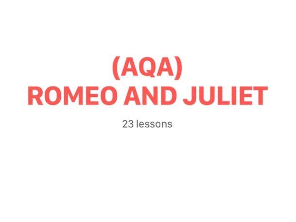 Romeo and Juliet AQA Scheme of Work