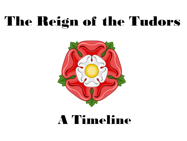 Reign of the Tudors - A Timeline of Events.