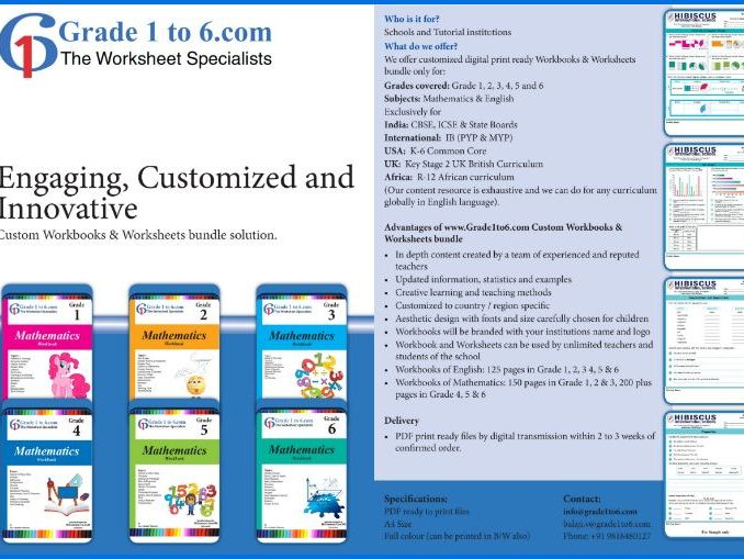 Grade 6 English Workbook/ Worksheets from www.Grade1to6.com Books
