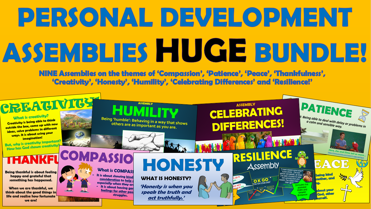 Personal Development Assemblies Huge Bundle!