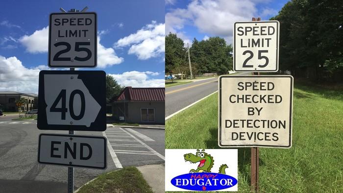 Dollar Stock Photos - Speed Limit 25 mph Signs