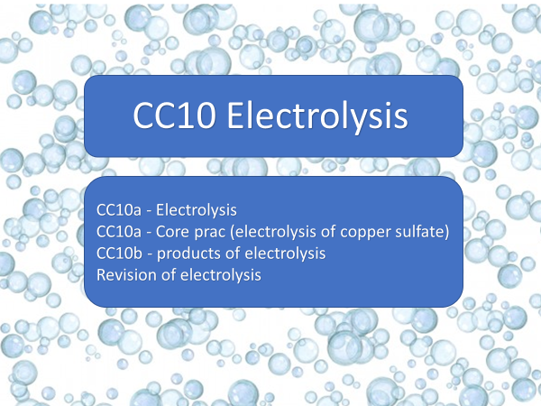 CC10 Electrolysis
