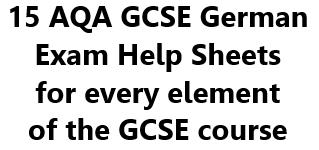 AQA GCSE German Exam Help Sheets - Bundle of 15!