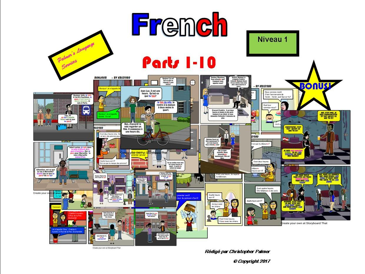 French for Adults: Beginners: Parts 1-10 (Only £15!!) Plus bonus Hallowe'en resource!!