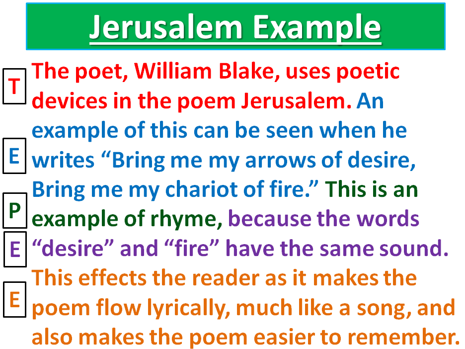 Jerusalem William Blake Sen Low Ability Yr 789 Environment Nature Poetry