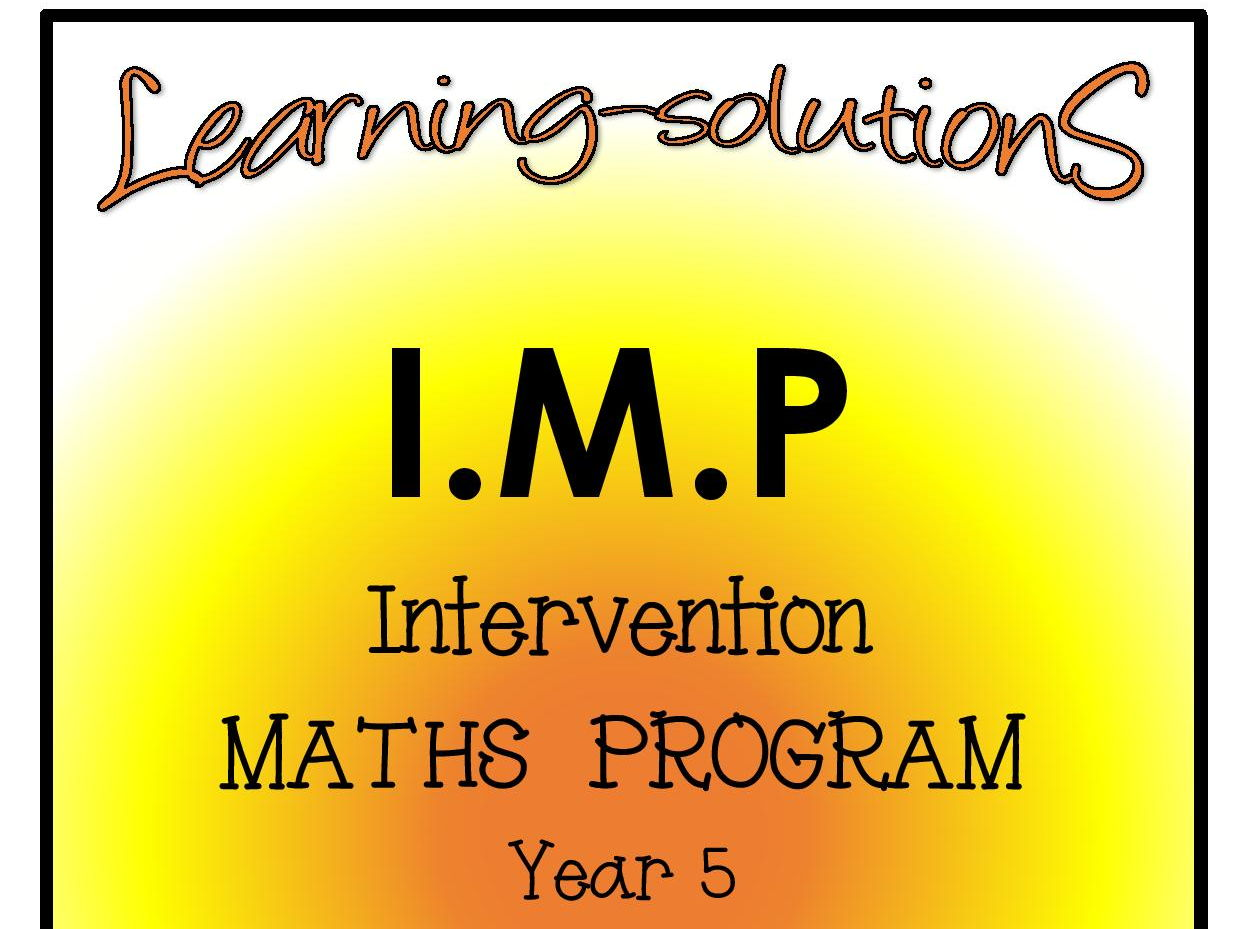 INTERVENTION MATHS PROGRAM BUNDLE - IMP Year 5 - Number and Place Value, Decimals, Patterns and Algebra + Games