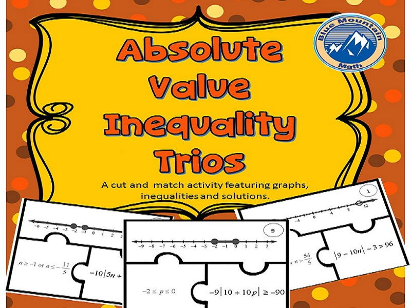 Absolute Value Inequality Trios