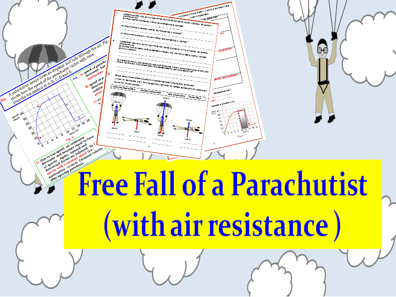Free fall of a parachutist