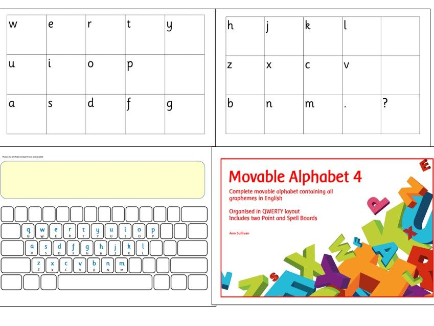 Movable Alphabet 4 - QWERTY layout with Base Plates - Phonics for SEN