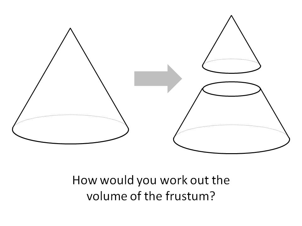 Volume of cones and frustums