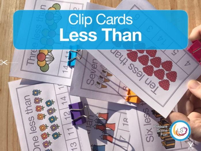 'Less Than' Clip Cards