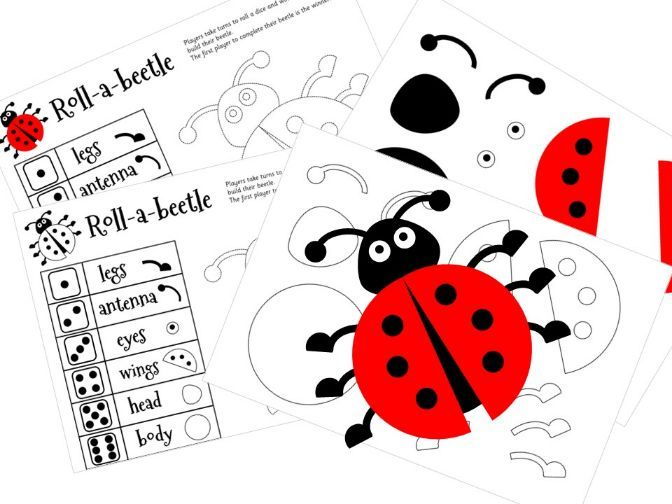 Roll-a-Beetle / Beetle Drive / Ladybird Dice Game