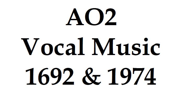 GCSE 9-1 Edexcel AO2 Vocal Music Workbook (39 pages)