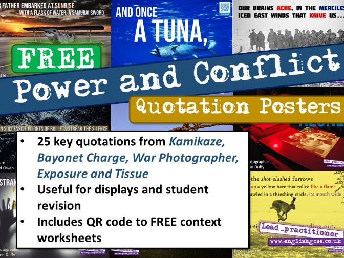 Power and Conflict Quotes Display Revision
